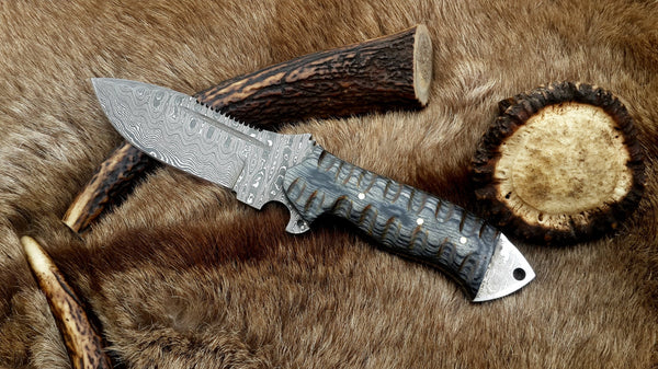 tactical Damascus knife