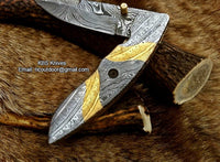 Hand Made Damascus Folding Knife