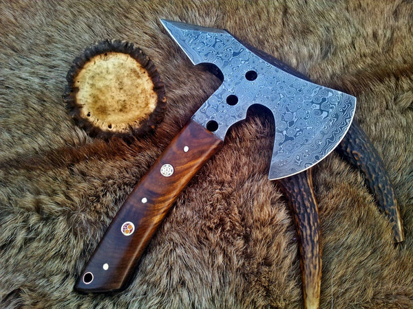 Hand Made Damascus Mini Axe