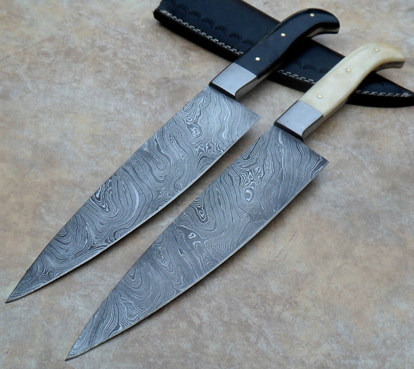 Hand Made Damascus Outdoor Chef Knives