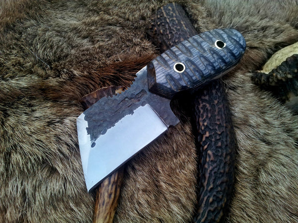 Hand Forge Tanto Neck Knife