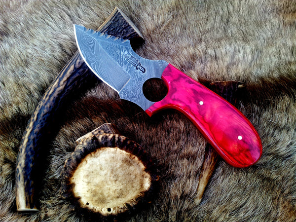 My Beautiful Damascus Finger Hole Skinning Knife