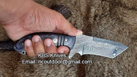 Hand Made Damascus Tanto Blade Knife