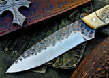 Custom Handmade Hand Forged 1095 High Carbon Steel Hunting Camping Knife