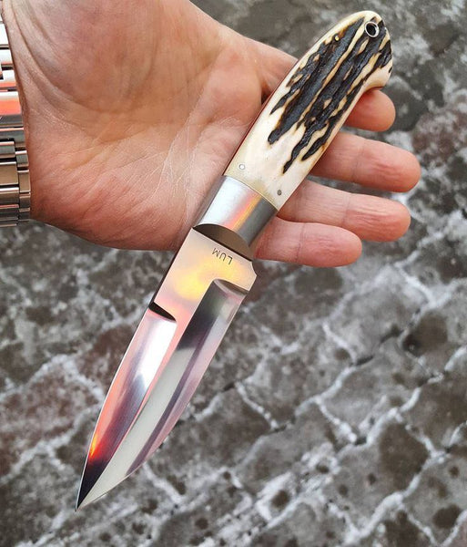 Full Tang Custom Handmade D2 Steel Hunting Knife