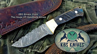Custom Handmade Twist Damascus Steel Skinner Knife