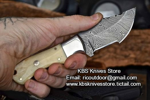 Hand Made Damascus Mini Tracker Knife