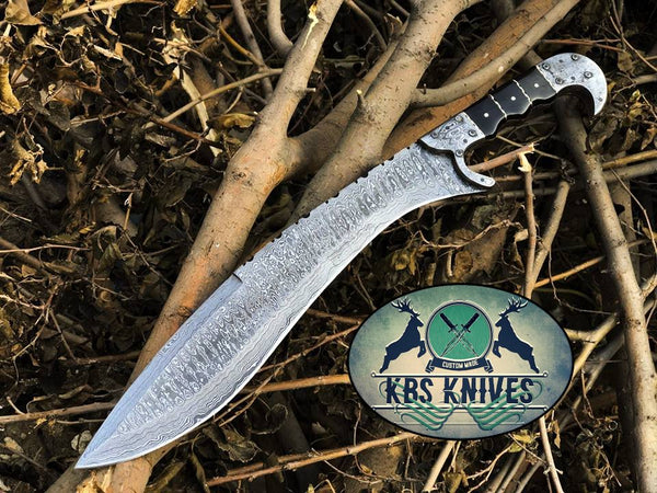 Full Tang Custom Handmade Damascus Steel Machete