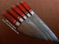 Hand Made Damascus Kitchen Knives Set