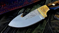 Custom Handmade D2 Tool Steel Guthook Skinner Knife