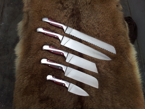 Hand Made Kitchen Knives Set