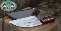 Full Tang Custom Handmade 1095 High Carbon Steel Chef / Chopper Knife