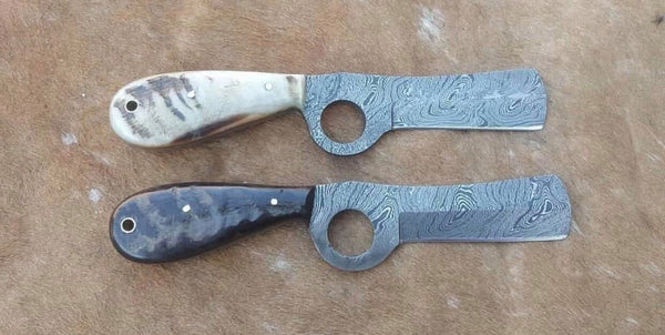 Damascus Cow Boy Knives