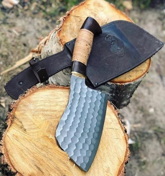 Custom Forged 1095 Steel Cleaver knife