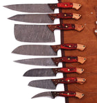08 PCS Custom Handmade Kitchen Knives Set