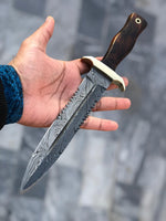 Custom Handmade Damascus Steel Dagger Knife