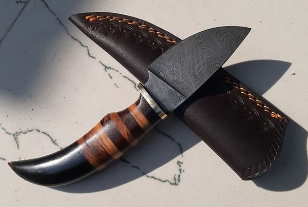 Custom Handmade Damascus Steel EDC Knife