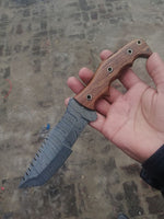 DAMASCUS STEEL TRACKER KNIFE | CAMPING KNIFE | SURVIVAL KNIFE