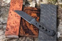 Damascus Steel Blank Blade Knife