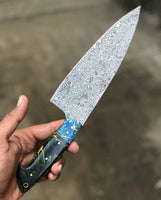 Raindrop Damascus Steel Chef Knife
