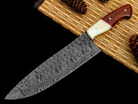Custom Forged Damascus Chef Knife
