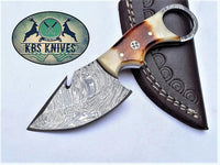 EDC Finger Hole Guthook Skinning Knife