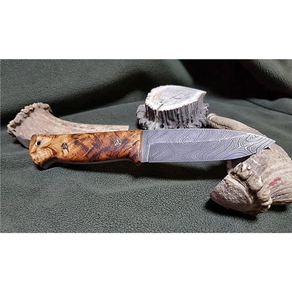 DAMASCUS STEEL BUSHCRAFT CAMPING KNIFE