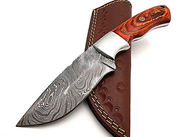 Full Tang Damascus Hunting Knife