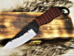 Custom Handmade Hand Forged Carbon Steel Hunting Skinning Knife