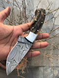 Damascus Hunting Knife