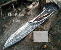 Forged Blade Damascus Hunting Classic Knife