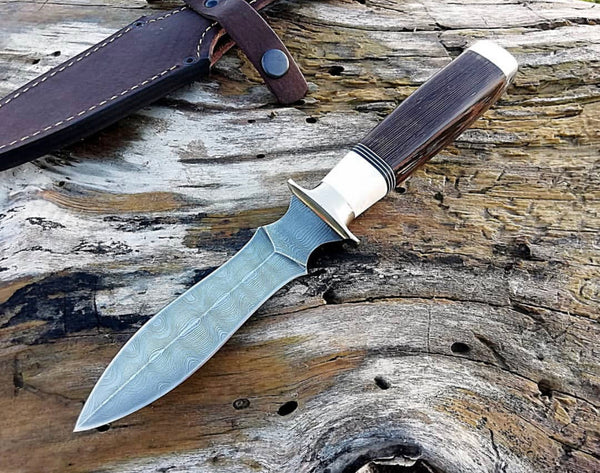 Damascus Steel Dagger Knife