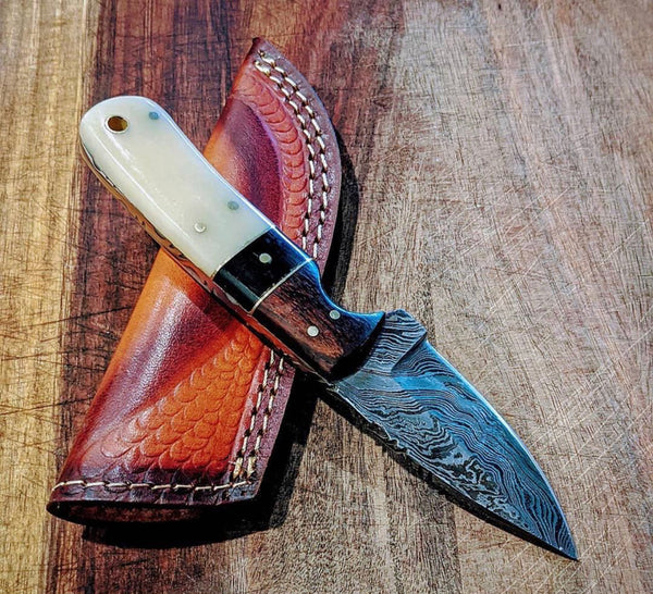 Damascus Steel Edc Skinner Knife