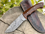 Damascus Hunting Knife with Resin Handle
