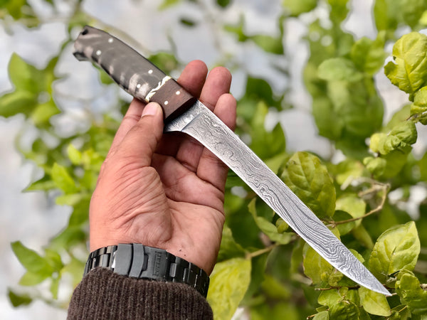Flexible Damascus Fillet Knife