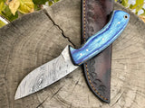 Damascus Steel Deer Skinning Knife