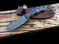 DAMASCUS GUTHOOK HUNTING KNIFE