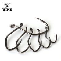 W.P.E Brand Catfish Hook 5-10pcs/pack High-Carbon Steel Fishing Hook 2#-12# Very Sharp Hook Barbed Catfish Hook Fishing Tackle