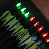6PCS/SET Super Bright LED Luminous Arrow Nock Tail Outdoor Hunting Shooting Archery Arrow Bow Dual Tail Inside Light New