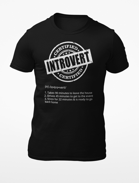 Certified Introvert t-shirt