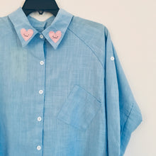 SAMPLE| Face heart collar shirt