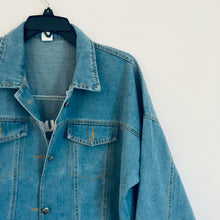 SAMPLE| I'm busy right now denim jacket (two pockets style)