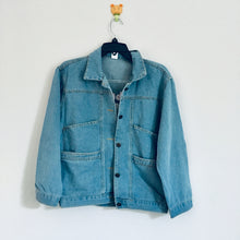 SAMPLE| I'm busy right now denim jacket (four pockets style)