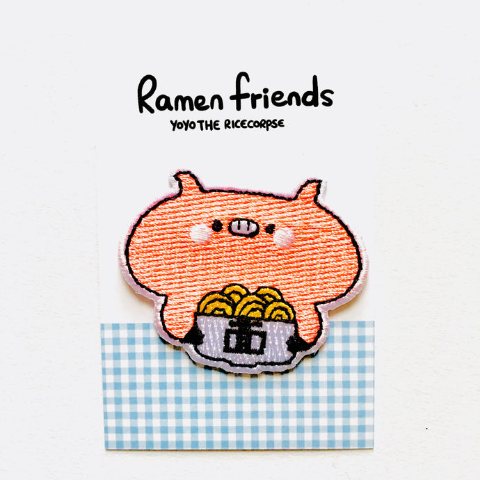 Ramen friends- Humphrey iron on patch