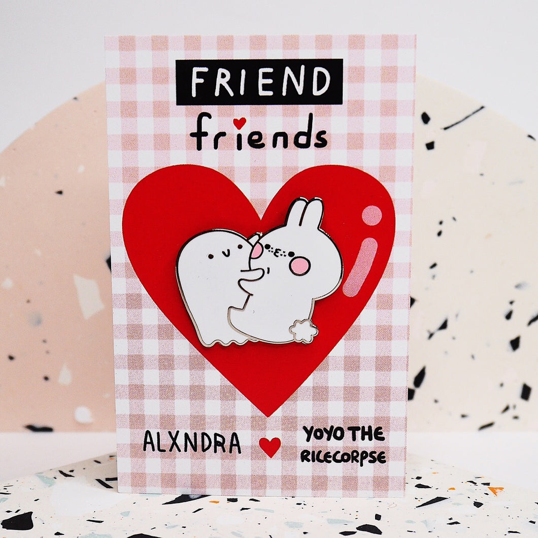 FRIEND friends pin