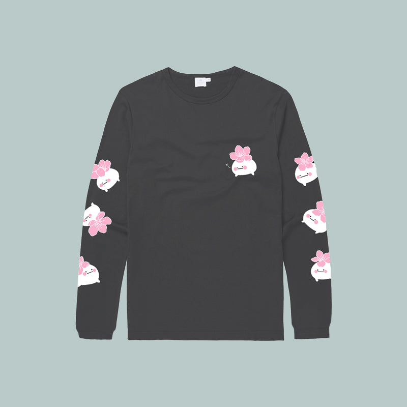 50~65% OFF GREY | Hibud SAKURA long sleeve tee