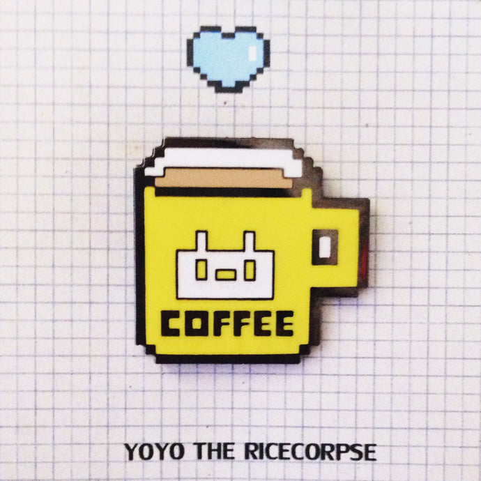 40% OFF Pixel world- COFFEE pin