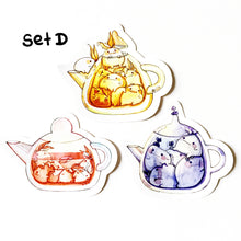 Set D Hi bud teapot vinyl sticker set x3