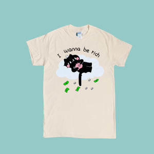 I wanna be rich tee
