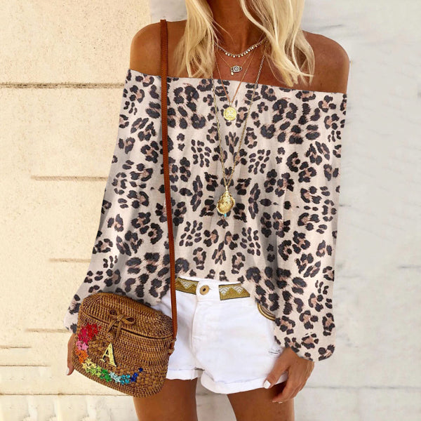 Boho Leopard Print Flower Sleeveless T-shirt